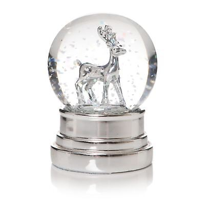 Small Silver Effect Reindeer Snow Globe 6.5cm