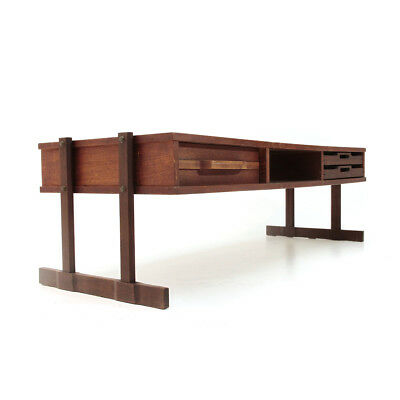 Tavolino con cassetto e vassoi anni '60, coffee table, italian design