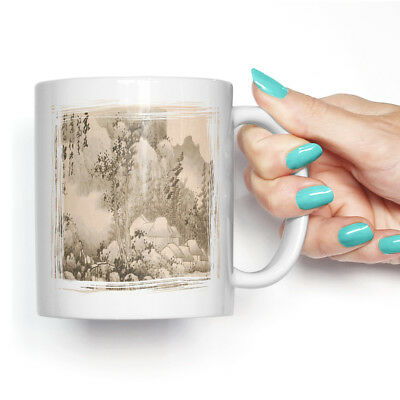 Coffee Mug Tea Cup Ceramic Gong Xian Landscape Asian