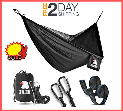 Double Camping Hammock tent with Mosquito Net Tree Strap Strong Bearing Capacity