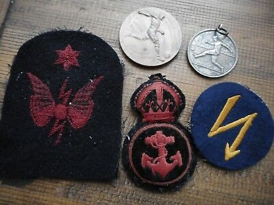 Royal navy football named medals & Insignia OCCUPATION FORCES