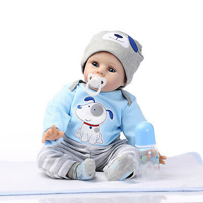 "USA SHIP Reborn Baby Doll Realistic Silicone Dolls Gifts Lifelike 22"" Xmas gifts"