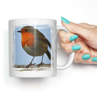 Coffee Mug Tea Cup Ceramic Robin Bird (2) Animal