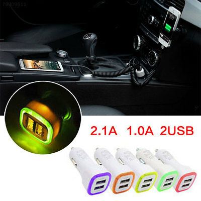 E366 2.1A 1.0A 5W LED Dual USB 2 Ports Car Charger Adapter Socket For Smart Phon