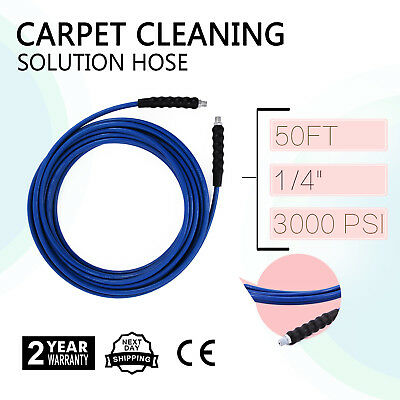 "50Ft Carpet Cleaning Solution Hose 1/4"" Heat W/qdsv 275 Degree Good On Sale"