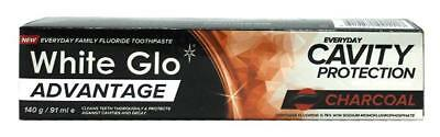 3 Pack White Glo Toothpaste Advantage Charcoal 140g