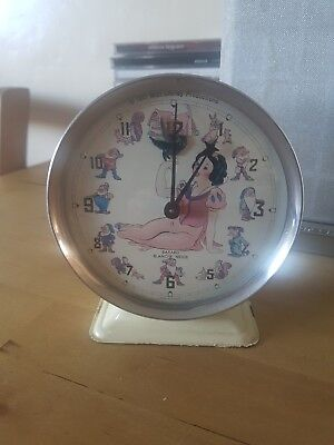 Bayard Snow White And Seven Dwarfs Wind Up Alarm Clock