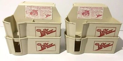 Dr Pepper Snack Tray Car Window Caddy Lot Of 4 Brand New Old Stock 1985 Soda Ad