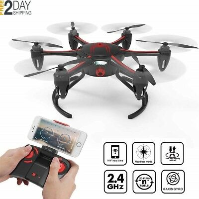 Techrc TR005 RC Drone WiFi Version FPV Quadcopter with Camera Live Video Hexacop