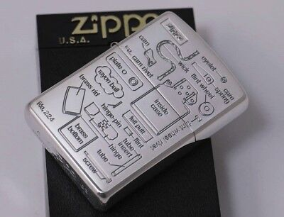Zippo Part's Name Limited Edition Silver Coating Cool 02313