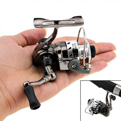 Mini Fishing Reel Palm Size Metal Coil Poket Small Spinning Reel for Fishing Rod