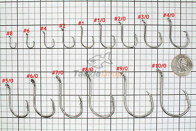 100 Circle Offset Octopus Fishing Hooks 2X Strong Chemically Sharpened USA!
