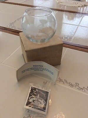Vintage 70's Nestle Nescafe World Map Glass Floating Candle In Original Box