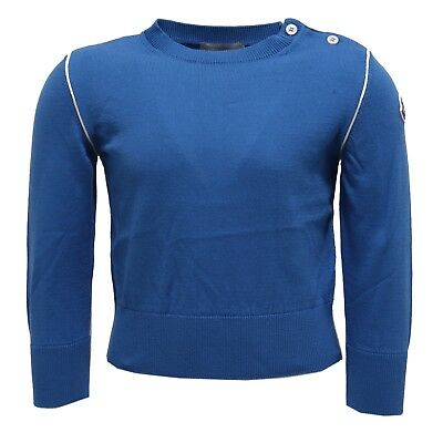 1967Y maglione bimbo boy MONCLER blue cotton sweater