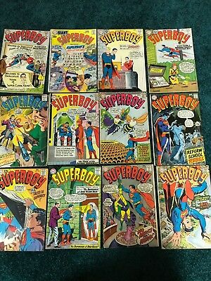 Lot of 12 DC Comics - Superboy - Great Silver Age Lot - Classic Covers !!