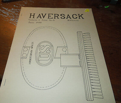 Haversack -The Journal of Hist. U.S. Military equip Vol 1 Issue 8  Riflemen