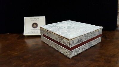 2013 Lunar Lotus Silver Year of the Snake 26.7g 15.00 Canadian