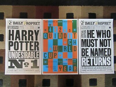 """Harry Potter . The Daily Prophet (11"""" x 17"""") Movie Poster Prints (Set of 3)"""