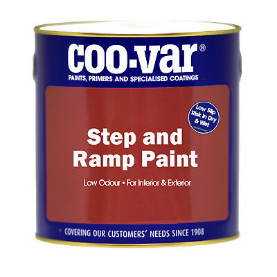 Coo-Var Anti-Slip Step and Ramp Paint 1L Colours or Clear Hardwearing & Durable
