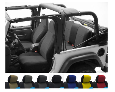 Pleasing 1997 2002 Jeep Wrangler Tj Custom Neoprene Seat Covers Front Dailytribune Chair Design For Home Dailytribuneorg