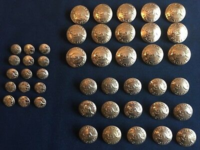 45 Canadian Pacific, CPR Railway uniform buttons.