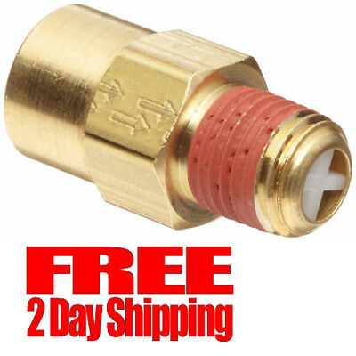 "Control Devices Brass Ball Check Valve, 1/4"" NPT Female x NPT Male"