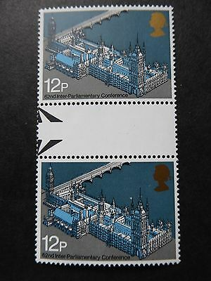 GB 1975 Parliamentary Conference Gutter Pair  SG 988  Mint MNH