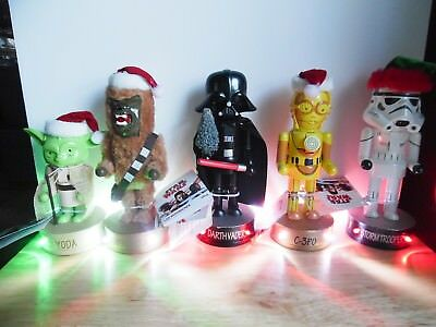 ~NEW~ 2017 Complete LED Set of 5 Star Wars Christmas Dressed Nutcrackers ~EXCC~