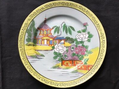 Takito Co. Vintage Hand Painted Dish, Plate Made In Japan 1922-1941