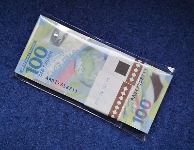 100/% Original 100 RUBLES Russia FIFA 2018 World Cup Polymer UNC FROM bundle