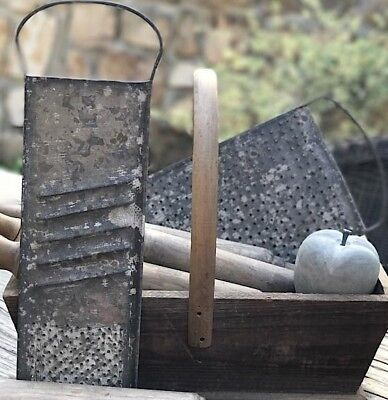 GRATER Farmhouse Food Slicer Wall Decor LARGE Old Cheese Grater Weathered Metal