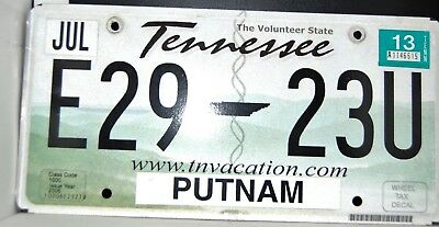 GATR H8TR tennessee shaped license plate Vintage Tennessee VOLS UT replica