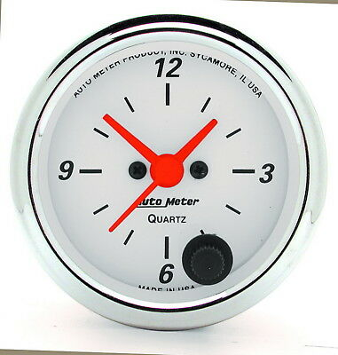 AutoMeter 1385 Arctic White (TM) Gauge Clock