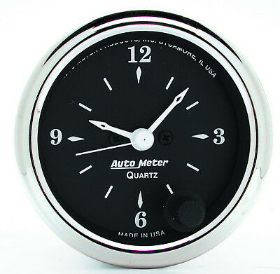 AutoMeter 1785 Old Tyme Black (TM) Gauge Clock