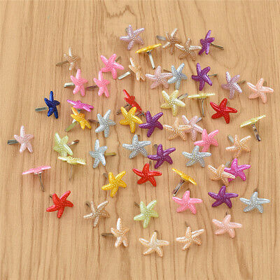 Starfish Shape Paper Fastener Metal Brads for Album Scrapbooking Decor Craft