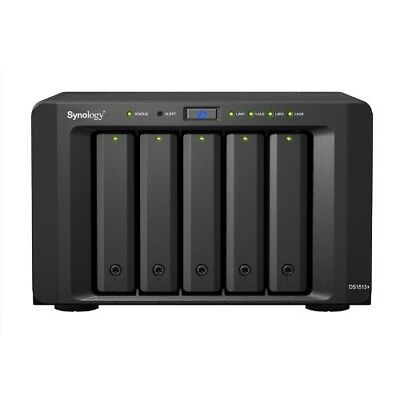 Synology Diskstation DS1513+,5-Bay NAS Server, Dual Core 2,13 GHz, 2GB Ram