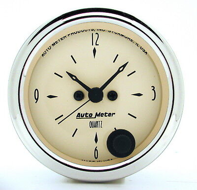 AutoMeter 1885 Antique Beige (TM) Gauge Clock