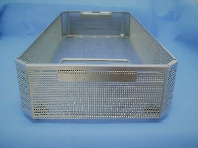 "Aesculap JF224R Perforated Storage Basket, Full Size, 4"" depth, Excellent!"