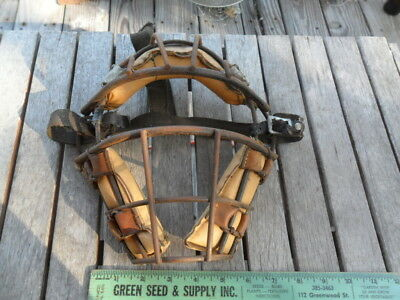 Vintage Catchers Mask Padded Wire Cage Baseball