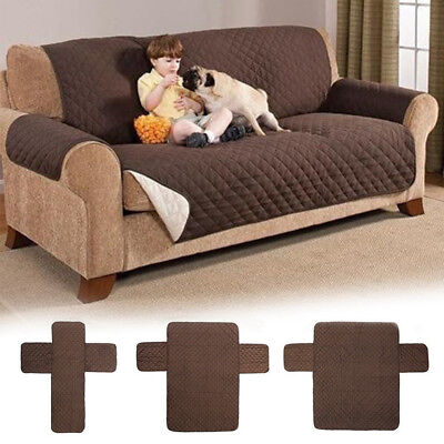 Waterproof Quilted Sofa Cover Anti Slip Couch Recliner For Dogs Kids Protector