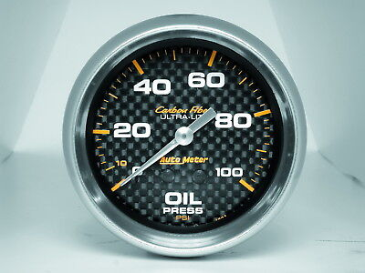 AutoMeter 4821 Carbon Fiber (TM) Gauge Oil Pressure