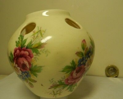 Posey Vase with  flowers  1980's
