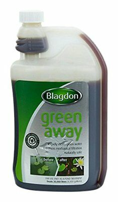 BLAGDON GREEN AWAY 250ml 500ml 1000ml  POND ALGAE CLOUDY WATER TREATMENT