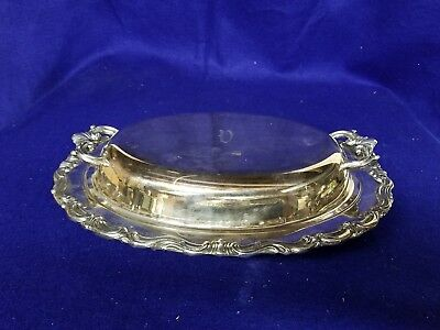 Silverplate Covered Entree Serving Dish 12 inches