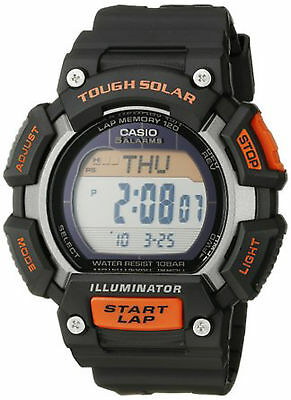 Casio Men's Tough Solar Black Digital Resin Strap 49Mm Watch Stls110h-1A