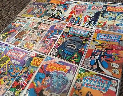 Justice League of America Comic Book Lot of 17 #97 - 178 100 184 Whitman Variant