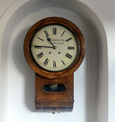 Antique German striking wall clock