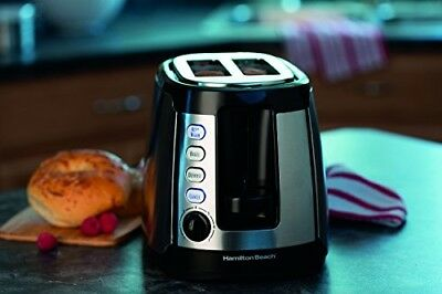 2 Slice Toaster Two Stainless Steel Slot Hole Bagel Warm Wide Defrost Countertop