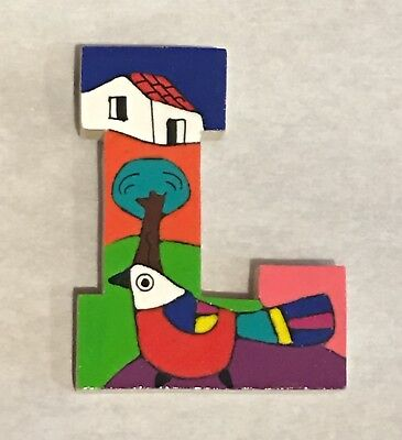 La Palma Folk Art from El Salvador Letter L Handcrafted on Recycled Wood
