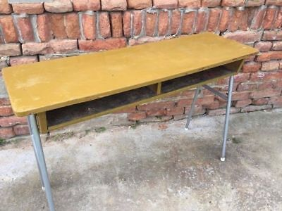 Vintage Retro Table Iconic School Statement Furniture Dining Side Display Desk